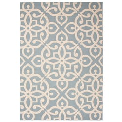 Jaipur Scrolled Rug From Bloom Collection BLO13 - Blue/Taupe