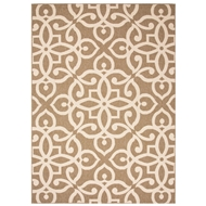 Jaipur Scrolled Rug From Bloom Collection BLO14 - Brown/Taupe