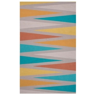 Jaipur Shards Rug From Traditions Made Modern Cotton Flat Weave Collection MCF02 - Gray/Blue