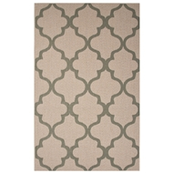 Jaipur Stamp Rug From Breeze Collection BRZ01 - Taupe/Blue