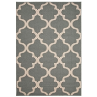 Jaipur Stamped Rug From Bloom Collection BLO28 - Blue/Ivory