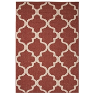 Jaipur Stamped Rug From Bloom Collection BLO27 - Red/Ivory