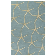 Jaipur Starfishing Rug From Coastal Resort Collection COR27 - Blue/Yellow