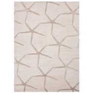 Jaipur Starfishing Rug From Coastal Resort Collection COR25 - Ivory/Taupe