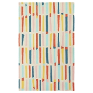 Jaipur Sticks Rug From Iconic By Petit Collage Collection IBP10 - Ivory/Red