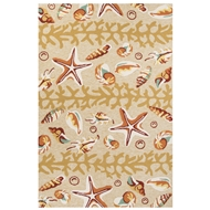 Jaipur Surf Rug From Coastal Lagoon Collection COL44 - Brown/Orange