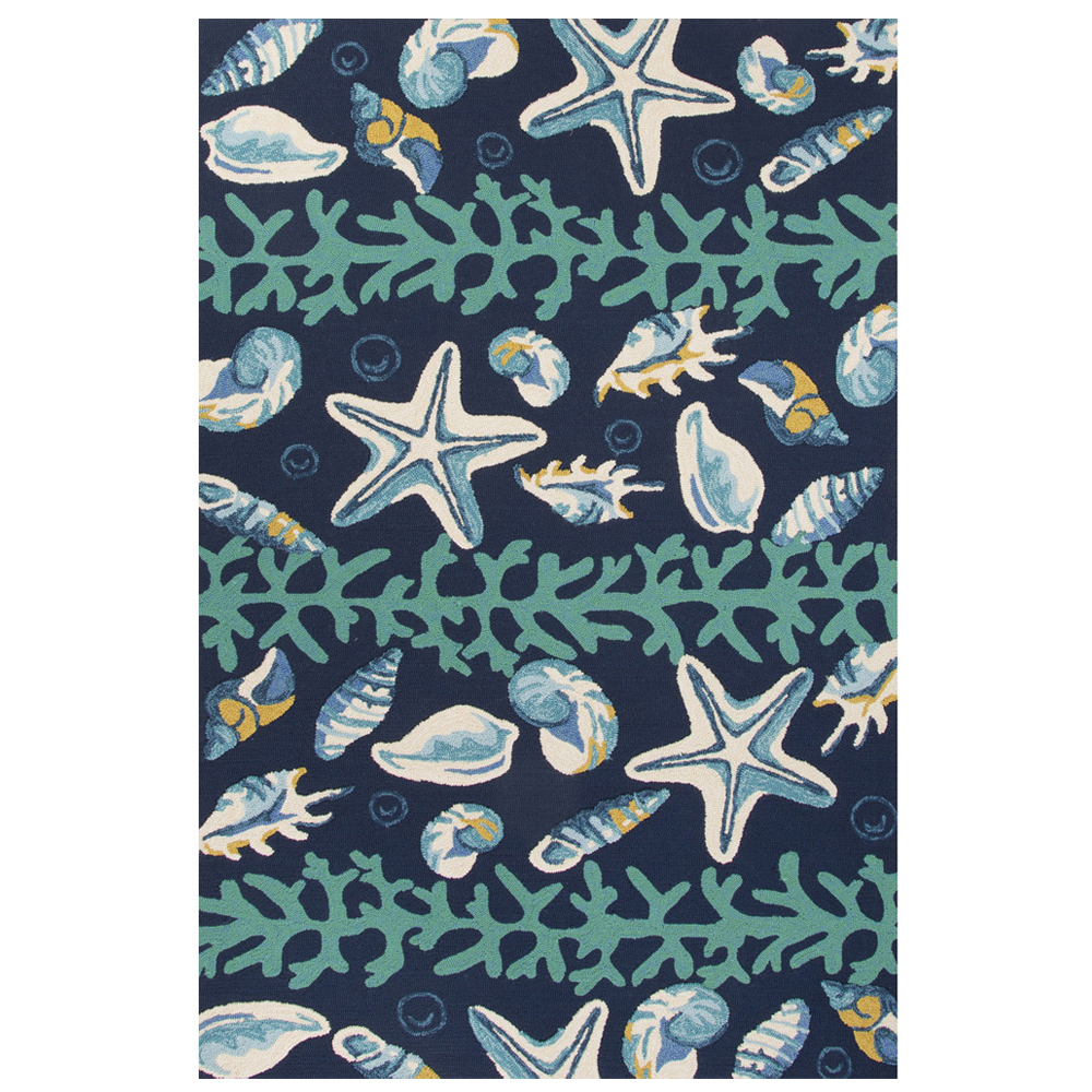 ... Jaipur Surf Rug From Coastal Lagoon Collection COL43   Blue/Ivory ...