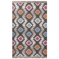 Jaipur Thissle Rug From Desert Collection DES05 - Dark Gray/Multi-Colored