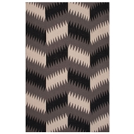 Jaipur Toluca Rug from Traditions Made Modern Flat Weave Collection - Charcoal Gray