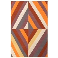 Jaipur Tunnel Rug from En Casa By Luli Sanchez - Tangerine
