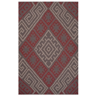 Jaipur Zagros Rug From Traditions Made Modern Cotton Flat Weave Collection MCF08 - Pink/Red