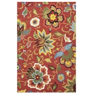 Jaipur Zamora Rug From Hacienda Collection HAC11 - Red/Blue