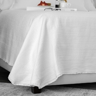 Lili Alessandra Battersea Coverlet - White Cotton