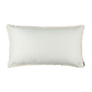 Lili Alessandra Battersea Ivory Silk & Sensibility - King Pillow