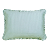 Lili Alessandra Battersea Sea Foam Silk & Sensibility - Luxe Euro Pillow