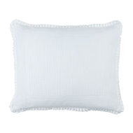 Lili Alessandra Battersea White Cotton - Luxe Euro Pillow