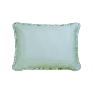 Lili Alessandra Battersea Standard Pillow - Sea Foam Silk & Sensibility L807SF