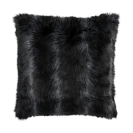 Lili Alessandra Black Fur Euro Pillow L10005LB