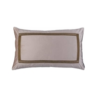 Lili Alessandra Caesar Large Decorative Pillow - Blush Velvet w/ Gold Embroidery L111DBLG-E