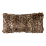 Lili Alessandra Chestnut Fur Large Rectangle Pillow