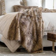 Lili Alessandra Chestnut Fur Throw LT10005CN