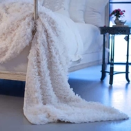 Lili Alessandra Coco Throw - White Sheer LT362W