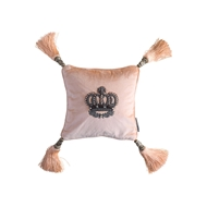 Lili Alessandra Imperial Crown Blush & Silver - Small Square Pillow