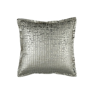 Lili Alessandra Jolie Quilted Euro Pillow - Silver Velvet & Gold Print L159LSG