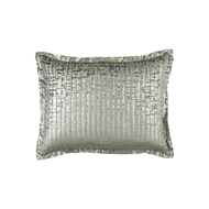 Lili Alessandra Jolie Quilted Standard Pillow - Silver Velvet & Gold Print L159SG
