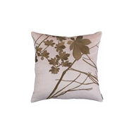 Lili Alessandra Leaf Decorative Pillow - Blush Velvet w/ Gold Embroidery L109SBLG-E