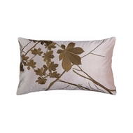 Lili Alessandra Leaf Large Decorative Pillow - Blush Velvet w/ Gold Embroidery L109DBLG-E