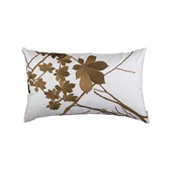 Lili Alessandra Leaf Large Rectangle Ivory Silk w/ Antique Gold Machine Embroidery L309DIG-E