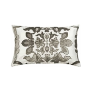 Lili Alessandra Morocco Small Rectangle Pillow - Ivory & Silver L582IS