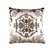 Lili Alessandra Morocco Square Pillow - Ivory & Silver L582SIS