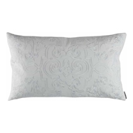 Lili Alessandra Mozart Large Rectangle Pillow - White Linen & White Linen L277DWW