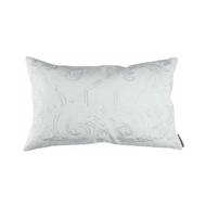 Lili Alessandra Mozart Small Rectangle Pillow - White Linen & White Linen L277WW