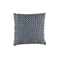 Lili Alessandra Ribbon Square Pillow - Blue Silk & Sensibility L501B