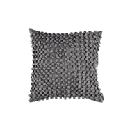 Lili Alessandra Ribbon Pewter Silk & Sensibility - Square Pillow