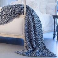 Lili Alessandra Ribbon Throw - Blue Silk & Sensibility