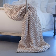 Lili Alessandra Ribbon Throw - Ivory Silk & Sensibility