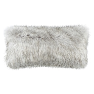 Lili Alessandra Silver Fur Large Rectangle Pillow