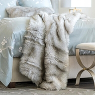 Lili Alessandra Silver Fur Throw LT10005S