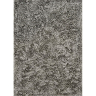 Loloi London Shag Area Rug - Silver - Hand-Tufted
