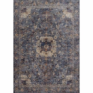 Loloi Porcia Area Rug - Blue & Blue - Power-loomed