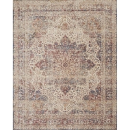 Loloi Porcia Area Rug - Ivory & Red - Power-loomed