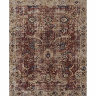 Loloi Porcia Area Rug - Red & Beige - Power-loomed