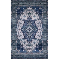 Loloi Cielo Area Rug - Ivory & Turquoise - 100% Polyester
