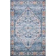 Loloi Cielo Area Rug - Ivory & Sunset - 100% Polyester