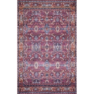 Loloi Cielo Area Rug - Berry & Tangerine - 100% Polyester