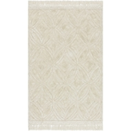 Loloi Echo Area Rug - Ivory - Polyester & Cotton